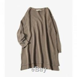 Mint evam eva Cotton Tunic Tops Quasi-machining M Size Long sleeve Women's Japan