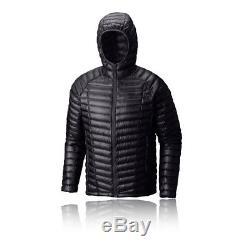 Mountain Hardwear Mens Ghost Whisperer Hooded Down Jacket Top Long Sleeve Black