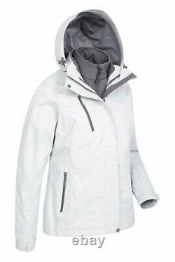 Mountain Warehouse Womens 3 in 1 Waterproof Jacket Winter Rain Coat Ladies