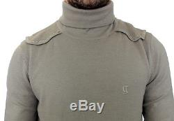 NEW $420 GALLIANO Gray Wool Long Sleeve Turtleneck Pullover Sweater Top s. L