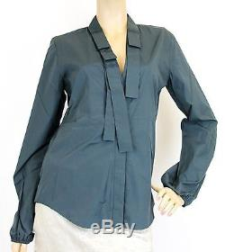 NEW Authentic Gucci Long Sleeve Shirt Top withTie, 40, 145626