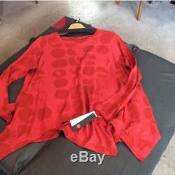 NEW MOYURU Tops Long Sleeve T-shirts Red Polka Dot 100 Cotton Women's Tag