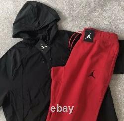 NEW Mens Nike Air Jordan Wings AJ Tracksuit SET FZ Windbreaker Hoodie & Bottoms