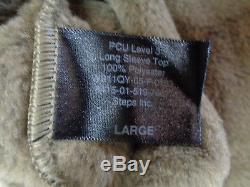 NEW Polartec Steps Inc. PCU L3 Level 3 Long Sleeve Top Fleece Large Coyote Brown
