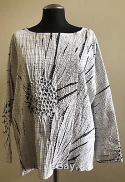 NWOT BABETTE Long Sleeve 100% Cotton Blouse Top, One Size