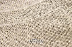 NWT $2575 Brunello Cucinelli Beige Long Sleeved Top Blouse Cashmere Blend Size M