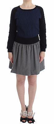 NWT $700 CHRISTIAN PELLIZZARI Wool Dress Long Sleeve Skirt Top Mini IT44/US10