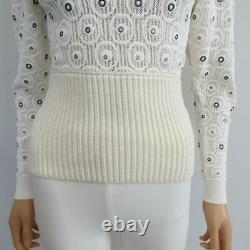 NWT Chloe Iconic Milk Turtleneck Metal Eyelet Sweater/Top Size XS $2,150