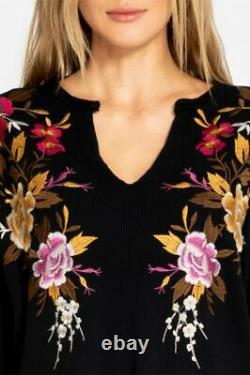 NWT Johnny Was ZOSIA THERMAL tag M fits L maybe XL TUNIC TOP GoRgEoUs Embroidery