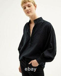 NWT Nili Lotan $375 Leona Top in Black S