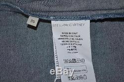 NWT Stella McCartney Blue Denim Ruffle Long Sleeve Blouse/Top Size 36 $765