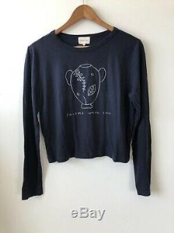 NWT paloma wool long sleeve vase drawing tee top blouse fits sz small