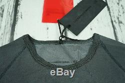 New Alexander Wang H&M Grey LongSleeve Shirt Logo Long Top Jacquard-Knit XS LAST