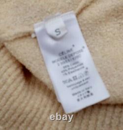 New CELINE Phoebe Philo Small sweater top tied neck scarf cream