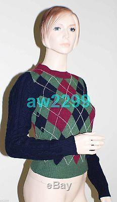 New Chanel 13a 100% Cashmere Knit Long Sleeve Sweater Top CC Logo 34 New
