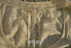 New Loveshackfancy Sabrina Blouse Top in Antique White Small Lace Cotton Shirt