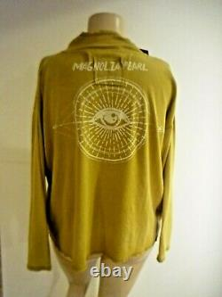 New Magnolia Pearl Eye of Eternity Cotton Pullover Top Long Sleeve In Marigold