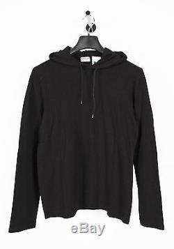 New Original Helmut Lang Black Men Hooded Long Sleeve T-Shirt Top in size S