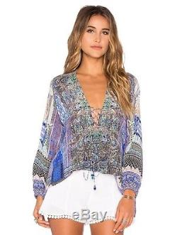 New Rare Camilla Courtyards Of Maiden Long Sleeve Lace Up Top Size 1 $450