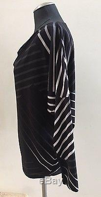 New without Tags ISSEY MIYAKE Black Long Sleeve Top Blouse, Size 2