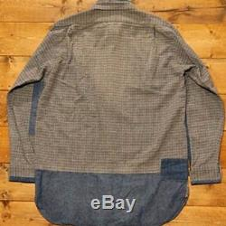 Nigel Cabourn Big Silhouette Plaid Long-Sleeved Shirt Men's Tops Size 44