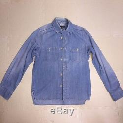 Nigel Cabourn Men's Long-Sleeved Shirt Denim Jeans Shirt Tops Size 44