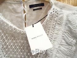 Nwt $970 Isabel Marant Rosen Long Sleeve Lattice Lace Neck Blouse Top 40/ Us 8 M
