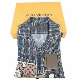 Nwt Louis Vuitton Aw17 Pret A Partir Pyjama Pajamas Damier Supreme Silk Shirt XL
