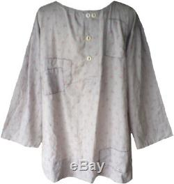 Nwt Magnolia Pearl European Cotton Long Sleeve Briony Top With Gathers