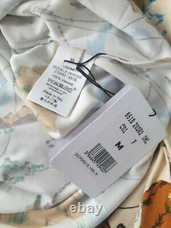 OLD CELINE Turtleneck Printed Vicose Top Size M Phoebe Philo Spring 2018