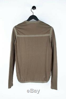 Original Dior Homme Khaki SS07 Slimane Men Long Sleeves T-shirt Top in size M