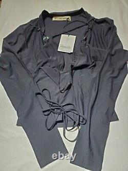 Ottolinger Bi Elastic Strap Stone Long Sleeve Top Black Size M NWT