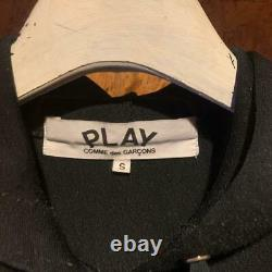 PLAY COMME des GARCONS Hoodie Black Size M Polyester 100% Men's Tops Long Sleeve