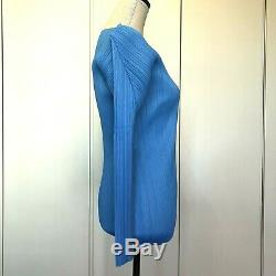 PLEATS PLEASE ISSEI MIYAKE Basic Pleated Tops Sky-blue Long Sleeve from Japan