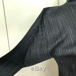 PLEATS PLEASE ISSEI MIYAKE Black Hi-Neck Basic Tops Long Sleeve from Japan