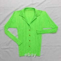 PLEATS PLEASE ISSEY MIYAKE Women's Tops Long Sleeve Shirt Jacket Cardigan Japan