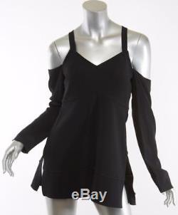 PROENZA SCHOULER Black Off-Shoulder Long Sleeve Strappy Blouse Top Shirt 4