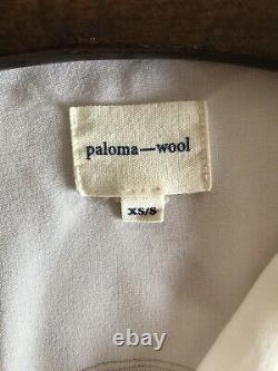 Paloma Wool Doricati white long sleeve cropped blouse top XS/S