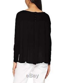 Pinko Women's 1g12fy-y32k Long-Sleeved Top Black Large New