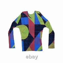 Pleats Please Women's Long Sleeve Top M Colour Multi