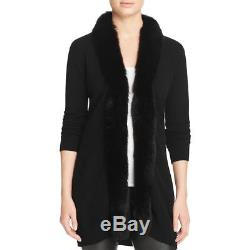 Private Label 0593 Womens Black Cashmere Long Sleeve Cardigan Sweater Top L BHFO