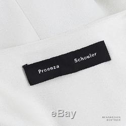 Proenza Schouler Ivory Cream Crepe Long Sleeve Smock Top Blouse US6 UK10