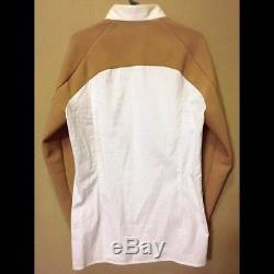 RAF SIMONS Men's Two Tone Color Long-Sleeved Shirt Tops Size M