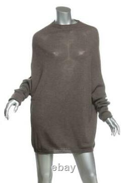 RICK OWENS MASTADON F/W16 Cashmere Knit Long Sleeve Pullover Tunic Top Sweater M