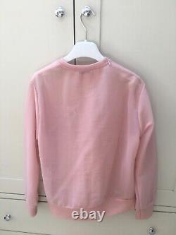 RRP £900 EMILIO PUCCI Pale Pink Sheer Nylon Top UK 10 Size S. Zip shoulder, Logo