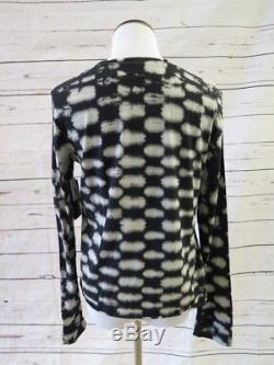 Raquel Allegra Top Black Checker Tie Dye Size 1 Long Sleeve Tee NEW