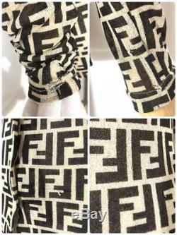 Rare Fendi Zucca Print Shirt Long Sleeve FF Logo Monogram Top Size IT42