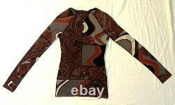 Rare Jean Paul Gaultier Sheer Mesh Top Abstract Geometric Paisley Size L