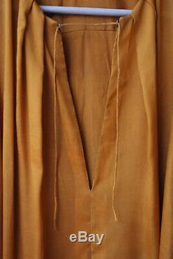 Rare KITX No. 1 Handmade Mustard Tissue Silk Long Sleeve Blouse Top AU8/US4