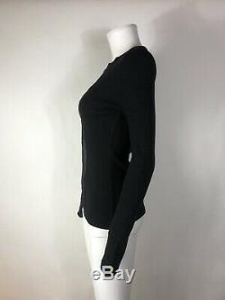 Rare Vtg Jean Paul Gaultier Black Long Sleeve Mesh Panel Top S